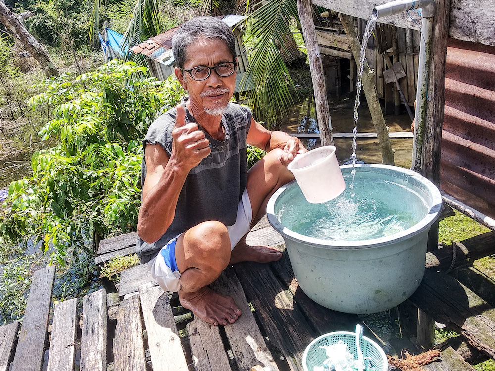 About 24 million Indonesians still lack safe water. The use of contaminated water for drinking, cooking and washing correlates directly with the high incidence of a wide range of preventable diseases.