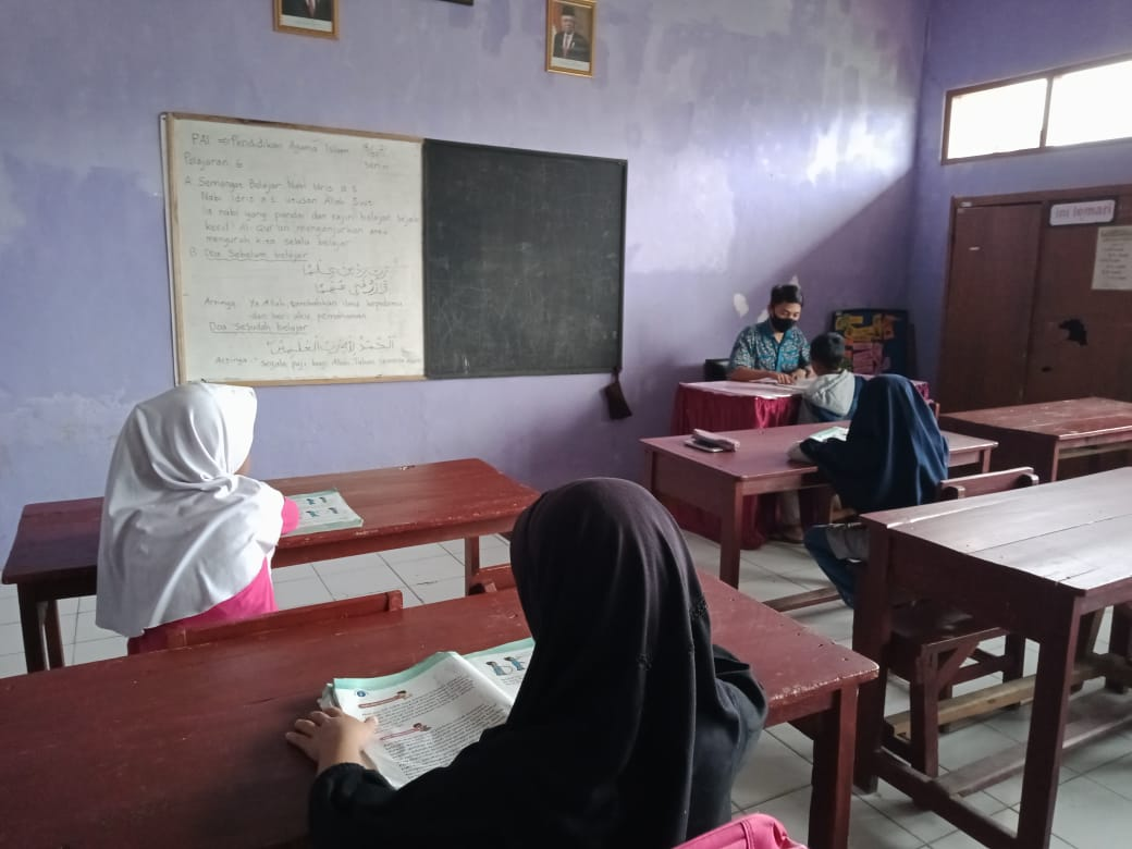 Many students in rural areas like the ones in Cipanas, West Java have struggled to keep up with their learning, especially those in the younger grades..