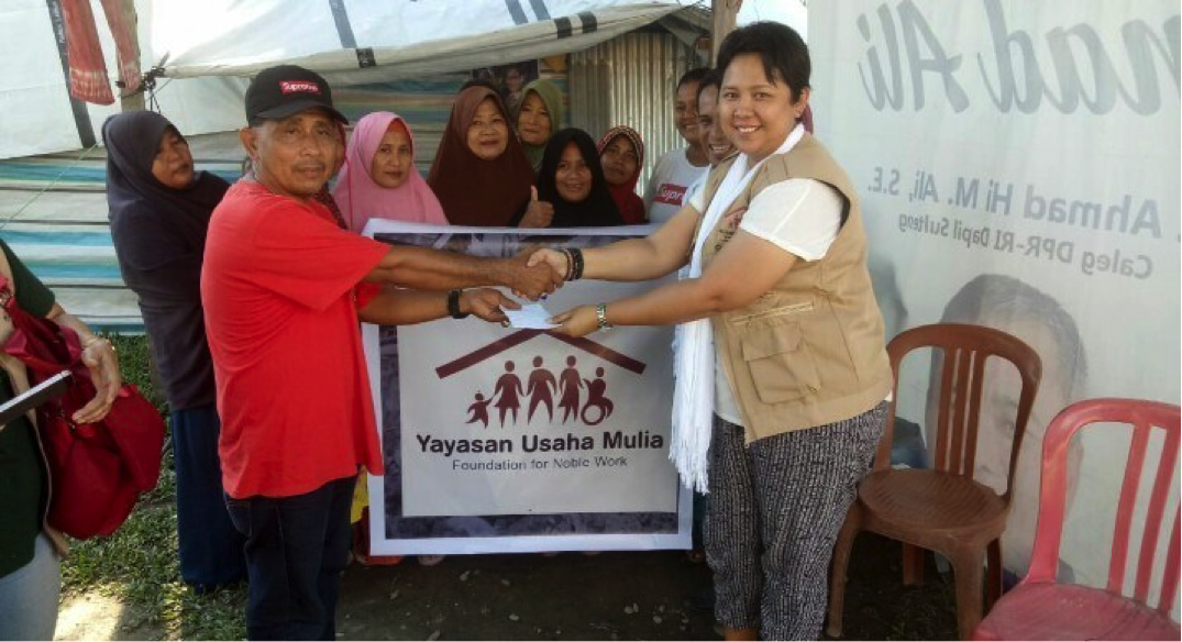 YUM once again provided assistance to disaster victims in Sirenja District, Donggala Regency, Central Sulawesi. In addition to helping provide housing, YUM also carried out trauma healing for women victims of the disaster.